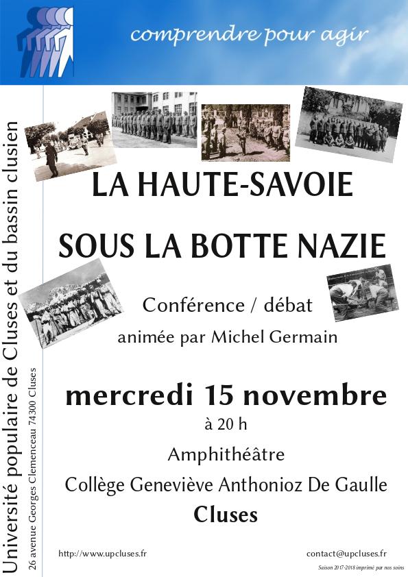 La Haute-Savoie sous la botte nazie