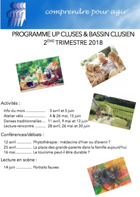Programme 2° trimestre 2018 - UP Cluses